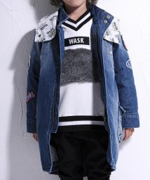 WASK/キルトライナー付デニムモッズコート(140cm~160cm)/502634059