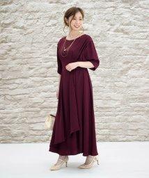Eimy Peral/Vバック袖付きドレス/502741427