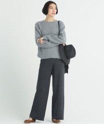 JIYU-KU /【洗える】LANA BLEND ニットワイドパンツ/502771788