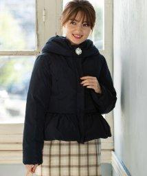 tocco closet/ビジュー付き裾フレアショートダウンコート/502745428