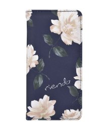 Mーfactory/rienda[全面/Lace Flower/ネイビー]手帳ケース iPhone8/7/6/502768379