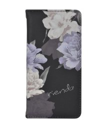 Mーfactory/rienda[全面/Layer Flower/ブラック]手帳ケース iPhone8/7/6/502768380