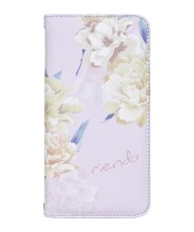 Mーfactory/rienda[全面/Layer Flower/パープル]手帳ケース iPhoneX/XS/502768385