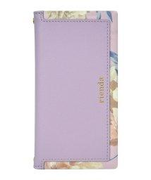Mーfactory/rienda[スクエア/Layer Flower/パープル]手帳ケース iPhoneXR/502768394