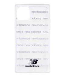 Mーfactory/New Balance [スクエア型TPUクリアケース/ロゴボーダー/ブラック] iPhone11/502768399
