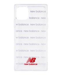 Mーfactory/New Balance [スクエア型TPUクリアケース/ロゴボーダー/レッド] iPhone11/502768400