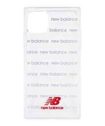Mーfactory/New Balance [スクエア型TPUクリアケース/ロゴボーダー/レッド] iPhone11Pro/502768413
