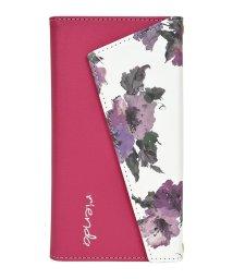 Mーfactory/rienda[ロングストラップ・小銭収納付き3つ折り手帳/Parm Flower/ピンク] iPhone11/502768426
