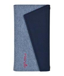Mーfactory/rienda[ロングストラップ・小銭収納付き3つ折り手帳/デニム&ネイビー] iPhone11/502768428