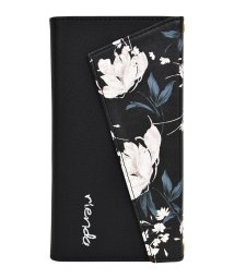 Mーfactory/rienda[ロングストラップ・小銭付き3つ折り手帳/Grace Flower/ブラック] iPhone11Pro/502768432