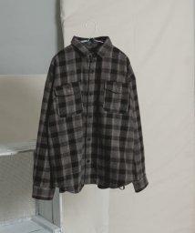 ITEMS URBANRESEARCH/ダブルポケットツイルチェックシャツ/502774125