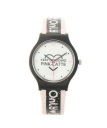 PINK-latte/ラメベルトロゴウォッチ/502775700