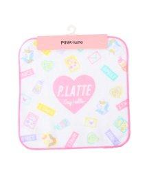 PINK-latte/ロゴプリント入りミニタオル/502775702