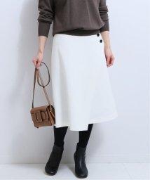 NOBLE/サイドボタンラップスカート(ホワイト)◆/502775955