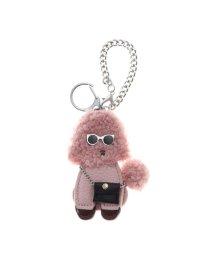 VitaFelice/ヴィータフェリーチェ VitaFelice バッグチャーム ボア サングラス プードル キーホルダー 犬のバッグチャーム バッグのアクセサリー (PINK)/502776082