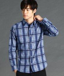 NICOLE CLUB FOR MEN/ジャガード織り先染めチェック柄シャツ/502699151