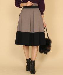 SCOTCLUB/GRANDTABLE(グランターブル) ウールライク配色スカート/502751011