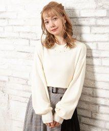 INGNI/12G NEW装飾付ボリューム袖ニット/502770374