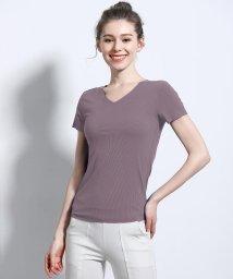 ALWAYS/シームレスインナー[AIR COOL] Vネック リブ半袖Tシャツ/502746640