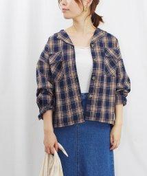 Fizz/先染め柄オープンカラーサファリシャツ fi /502774485