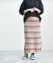 Fizz/【193562】マルチボーダージャガードニットスカート fi /502774496