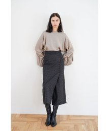 CLANE/BACK FRILL KNIT TOPS/502779455
