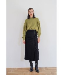 CLANE/WOOL DOT WRAP SKIRT/502779457