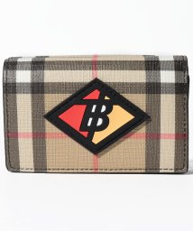 BURBERRY/【Burberry】Small Logo Graphic Vintage Check Folding Wallet/502738956