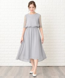 Lace Ladies/花柄袖レースフィッシュテールフォーマルワンピースドレス/502773844
