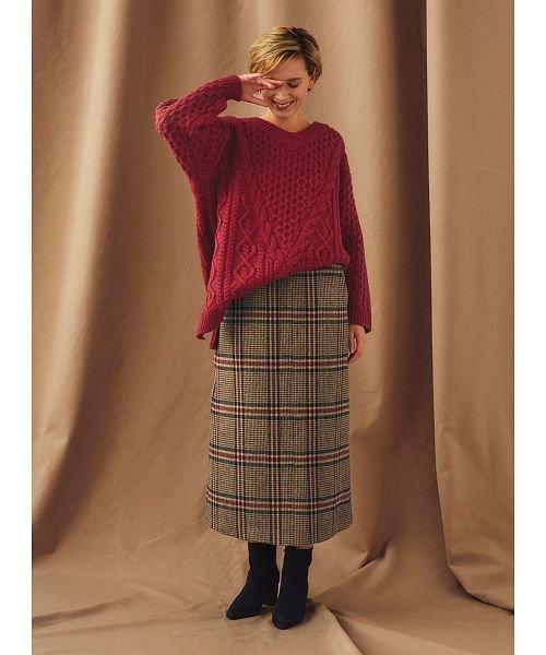 COEL(コエル)/チェックAラインスカート/189406013