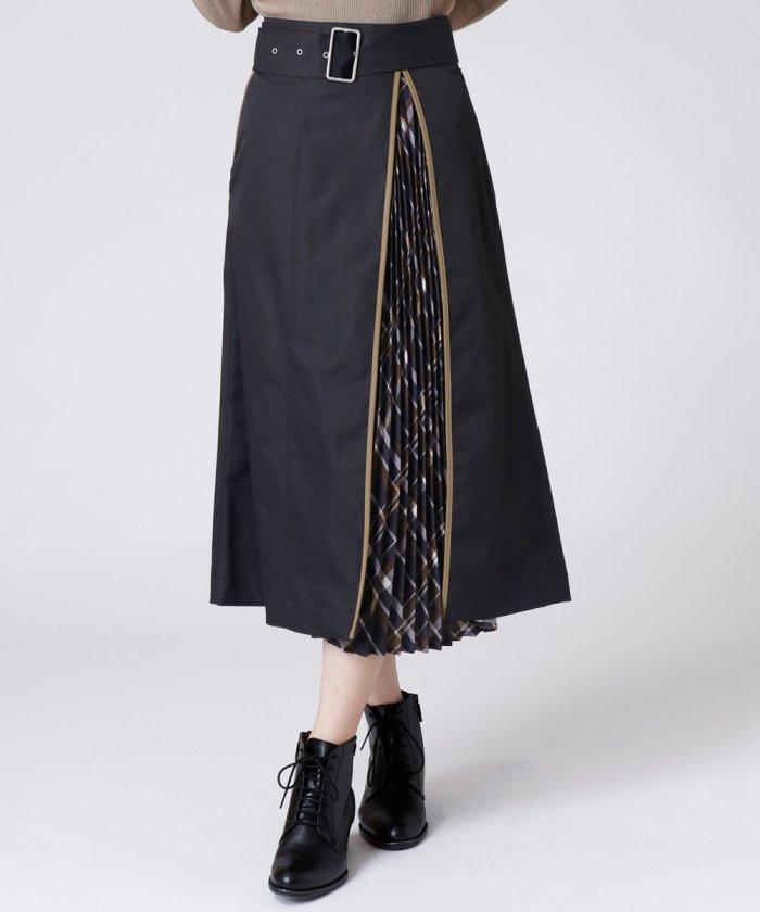 [soeur7]レイヤードチェック柄スカート