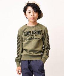 CONLUSOR/袖斜めプリントトレーナー/502779445