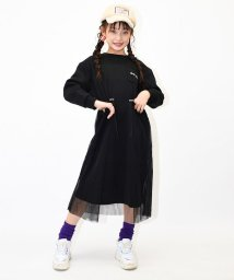 RiCO SUCRE/裏起毛チュール付きワンピース/502779452