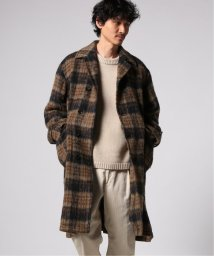 J.S Homestead/MOHAIR MIX CHECK WIDE BAL COLLAR COAT/502780817