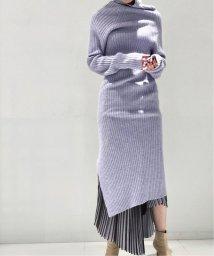 NOBLE/【BY MALENE BIRGER】スリットロングニットワンピース◆/502781344