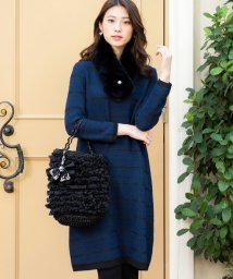 TO BE CHIC/【WEB限定】【Tricolore】ラメボーダードレス/502783154