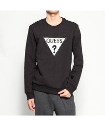 GUESS/ゲス GUESS CORDUROY TRIANGLE LOGO SWEAT (BLACK)/502783180