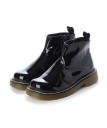 YOSUKE/ヨースケ YOSUKE キッズアイテム [直営SHOP限定モデル]ショートブーツ (ブラックエナメル)/502783260