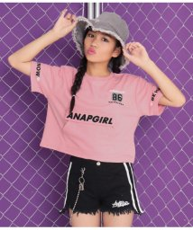 ANAP GiRL/袖ロゴBIGポケット付Tシャツ/502474957