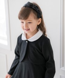 Catherine Cottage/白襟付き半袖ワンピース&ノーカラーボレロアンサンブル 入学式(110-130cm)/502655812