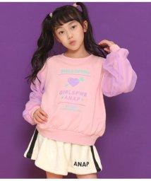 ANAP KIDS/袖チュールプリントトレーナー/502690385