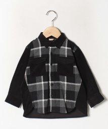 petit main/切り替えチェックシャツ/502769291