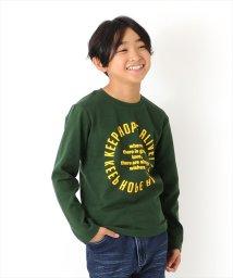 GLAZOS/起毛フライス・サークルロゴ長袖Tシャツ/502783985