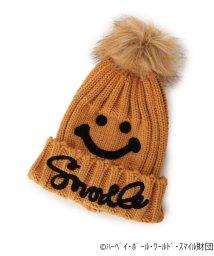 SHOO・LA・RUE/スマイリーフェイスポンポンニット帽/502784009