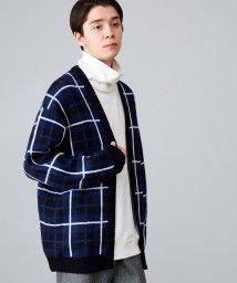 JUNRed/BIGチェックトッパーカーデ/502726937