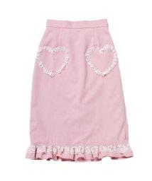 LODISPOTTO/ハートポケットレースフリルタイトスカート<セットアップ対応> / mille fille closet/502776381