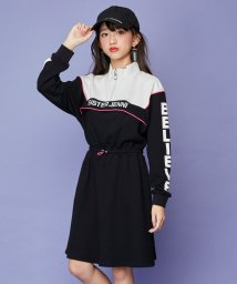 SISTER JENNI/袖ロゴプリント切替ハイネックワンピ/502786695