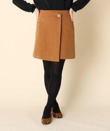 Couture Brooch/【WEB限定プライス/手洗い可】ボタンラップ台形スカート/502790016