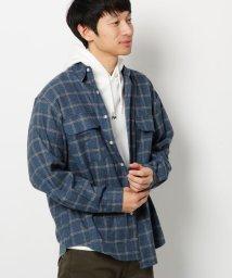 THE SHOP TK/起毛チェック長袖シャツ/502790031