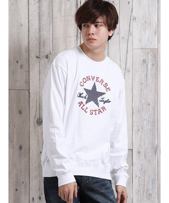 コンバース/CONVERSE コットンスムース クルーネック長袖Tシャツ
